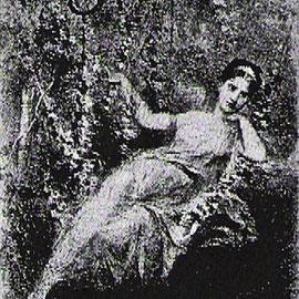 Rita Sangalli como Sylvia en la primera producción de 1876.