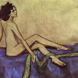 Ida Rubinstein. Retrato de Valentín Serov.