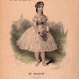 Giuseppina Bozzacchi como Swanhilda en Coppélia. Arthur Saint-Léon, 1870.
