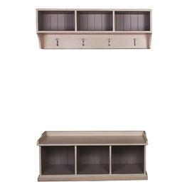 D571  2-teilig Regal mit Kleiderhaken: 127x28x43cm + Bank mit Fächern: 127x42x50cm ab 320 € ggf. Aufpreis für Farbe & Finish