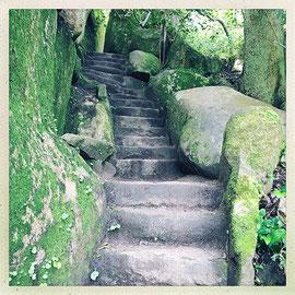 Quinta da Regaleira - Escalier escarpé © Sandrine Tellier