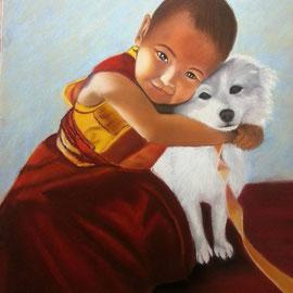 Moinillon et son chien