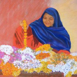 Fleuriste indienne....