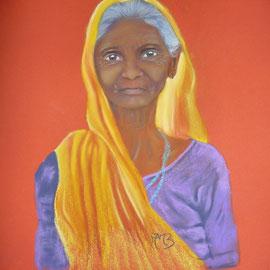 Vieille Femme indienne... pastel