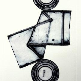 Figur Australia - Décollage Imprimé - 34 x 21 cm - Aufl. 80 - 1967