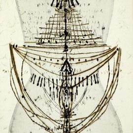 o.T. - Radierung - 32 x 20 cm - Aufl. 35 - 1966