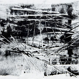 Composition 1.7. - 2017 - 36x46 cm - ink and oil on rice paper