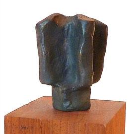 Windmühle, Bronze mit Ölfarbe, 1993, H ca. 5cm ø ca 6 cm, Auflage 3