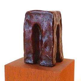 verhindertes Tor, Bronze mit Ölfarbe, 1993, H ca. 6.7 x 4,3 x 4,4 cm, Auflage 3