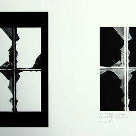 Fensterfiguren - Contre Collage Imprimé - 43 x 60 cm - Aufl. 100 - 1969