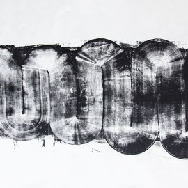 Serpentine 3 - 2018 - 70 x 120 cm - ink and oil on rice paper