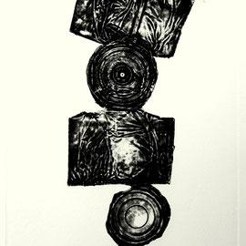 Fragment - Décollage Imprimé - 31 x 14 cm - Aufl. 40 - 1966