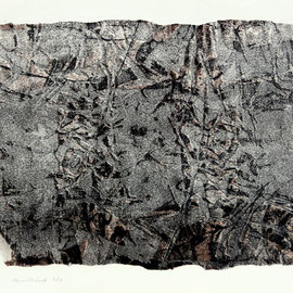 o.T.  - Lithographie - 22 x 31 cm - Aufl. 12 - 1961