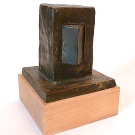Schrank, Bronze patiniert, 1993, H ca.13,5 x 13x 13,2 , Auflage 7