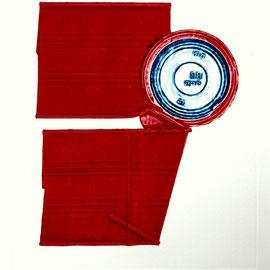 Rotes Fragment - Décollage Imprimé - 25 x 21 cm - Aufl. 80 - 1967