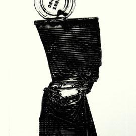 Figur OHBA5 - Décollage Imprimé - 30 x 12 cm - Aufl. 40 - 1966