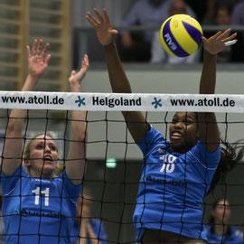 Volleyball Bundesliga VT Aurubis - Kim Staelens und Cindy Ramirez