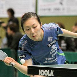Tischtennis Bundesliga - Han Ying vom MTV Tostedt