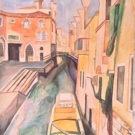 Venice - 2018, Pencil and watercolour on cartridge paper