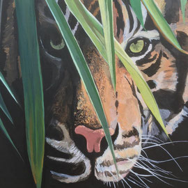 'Eye of the Tiger'  acrylic on canvas 2019