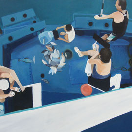 'Gone Fishing' acrylic on canvas 2012