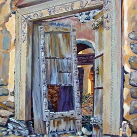 Old doorway -  Acrylic on canvas board, 16 x 12 inches - £350 unframed (frame may be available)