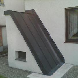 NACHHER Kellerabgang mit Alu-Blechverkleidung