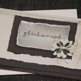 "karte ""glückwunsch"", format 21 x 15 cm, inkl. innenblatt und passendem couvert, fr. 9.50"