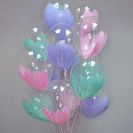 гелиевые шары с краской