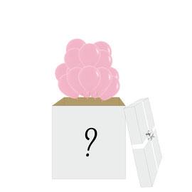 Гелиевые шары на определения пола ребенка в коробке