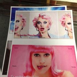 Digitalausdrucke in der Entwurfsphase