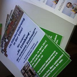 Plakate für den Bürgerverein St. Leonhard.