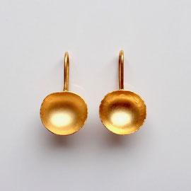 Ohrringe Schälchen goldplattiert
