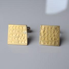 Manschettenknöpfe Silber mit 900 Gold punziert
