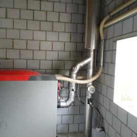 Fisa AG, Abgasanlage von Pellet Zentralheizung