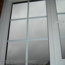 окно ПВХ с раскладкой (шпросами)
