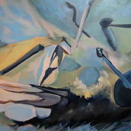 o.T., 2017, Öl auf LW, 90 x 130 cm