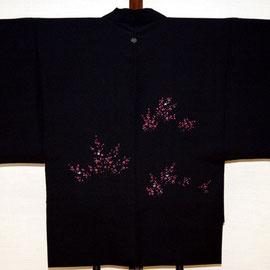 羽織から作る袖のぞき半天(背面)