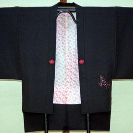 羽織から作る袖のぞき半天(前面)