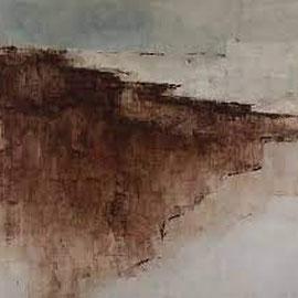 GIULIO CAMAGNI, #1, Asche, Pigmente, Acryl / Leinwand, 160x180cm, 2019   