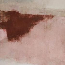 GIULIO CAMAGNI, #13, Asche, Pigmente, Acryl / Leinwand, 180x120cm, 2019 