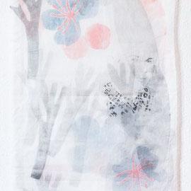 KARINA MENDRECZKY, Magda, Radierung, Hochdruck auf Japanpapier, 2020 (Bildausschnitt)