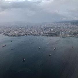 Regenwolken über Istanbul