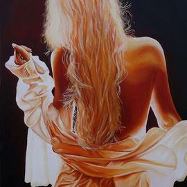 """""""Si Blonde"""" - Huile sur toile 80x60"""