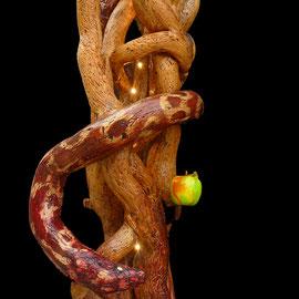 """""""Le Fruit défendu"""" Bois (lierre) Luminaire 120x50x50"""