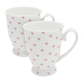 Bisous hearts set of mugs