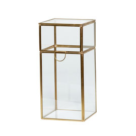 Tall glass box