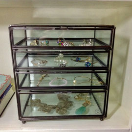 Glass box with drawers