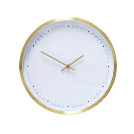 Clock Brass/White