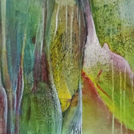 Lichtwiese - mixed media - 100x50x3,8 - in Privatbesitz